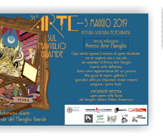 5 MAGGIO 2019 – ORE 9:00 * 20:00 – ARTE SUL NAVIGLIO GRANDE