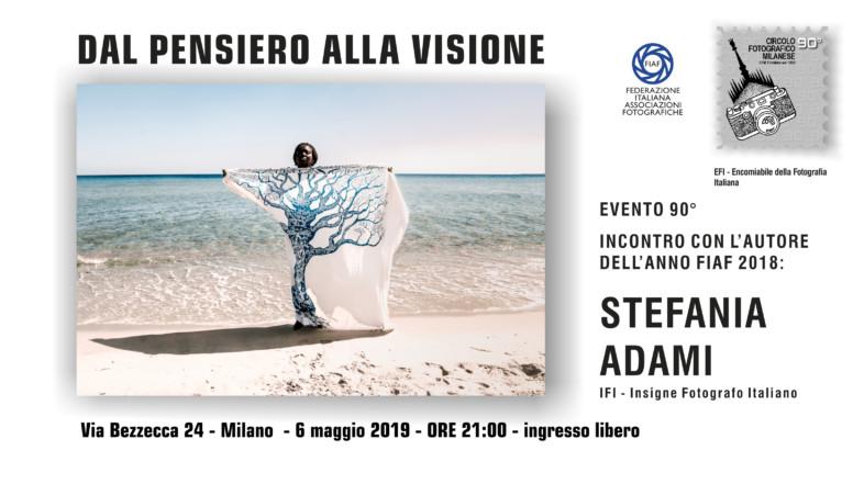6 MAGGIO 2019 – ORE 21:00 – INCONTRO CON STEFANIA ADAMI