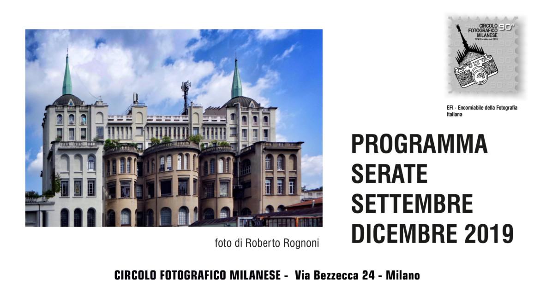 PROGRAMMA SETTEMBRE – DICEMBRE 2019