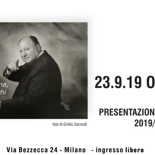 23 SETTEMBRE 2019 – ORE 21:00 – SERATA APERTURA ATTIVITA'