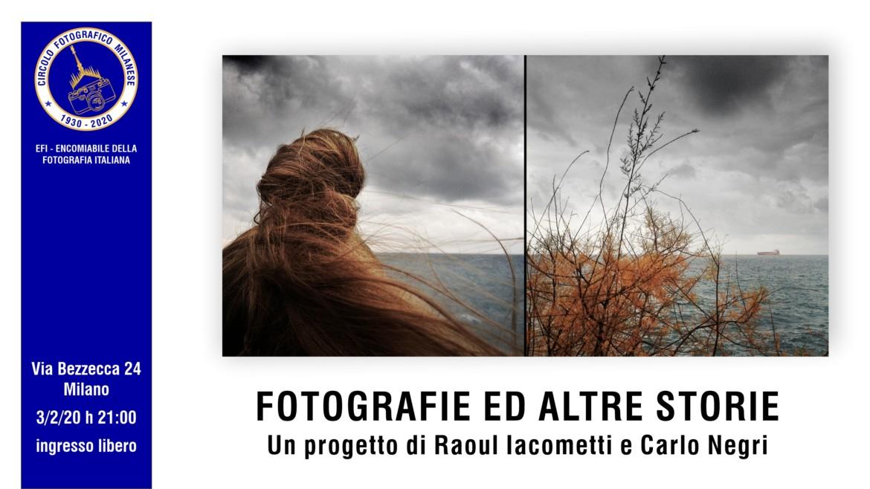 3/2/20 – ore 21:00 – FOTOGRAFIE ED ALTRE STORIE