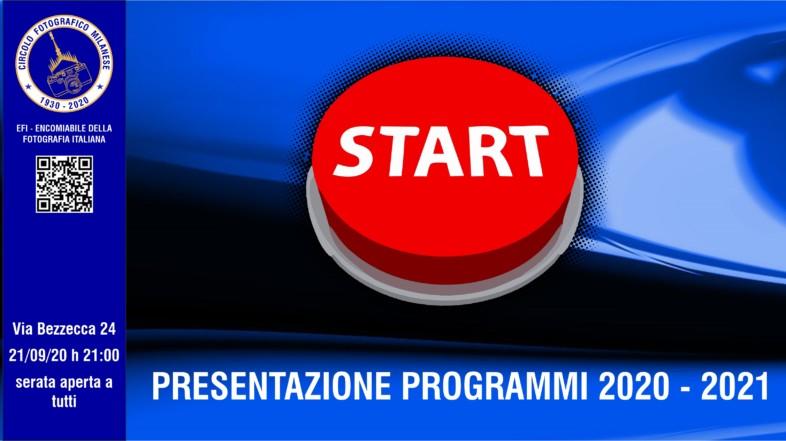 21/09/2020 – ORE 21:00 – RIPRESA ATTIVITA'  E PRESENTAZIONE PROGRAMMI