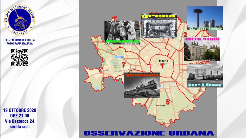 19 OTTOBRE 2020 – ORE 21:00 – OSSERVAZIONE URBANA, PREPARAZIONE ALL'USCITA
