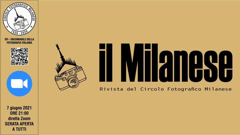 07 GIUGNO 2021 – ORE 21:00 – IL MILANESE